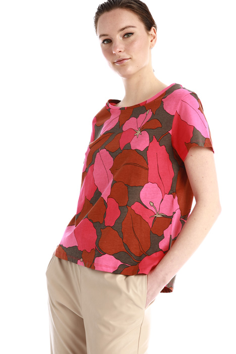 Patterned jersey T-shirt Intrend
