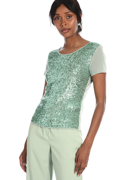 Tulle sequin T-shirt Intrend