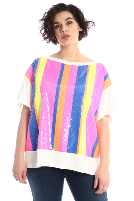 Jersey T-shirt with sequins Intrend