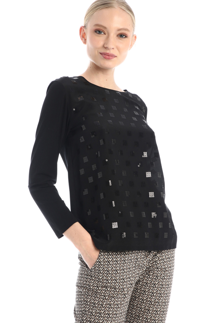 T-shirt with silk insert Intrend
