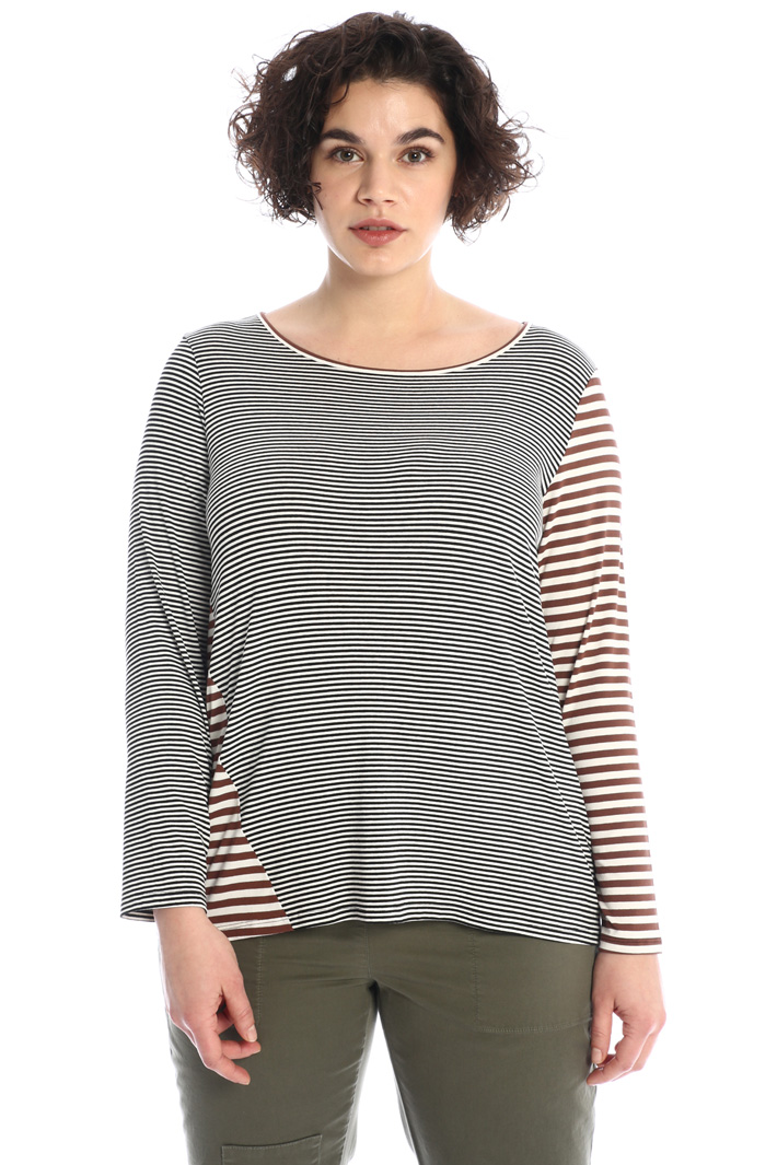 Yarn-dyed jersey T-shirt  Intrend