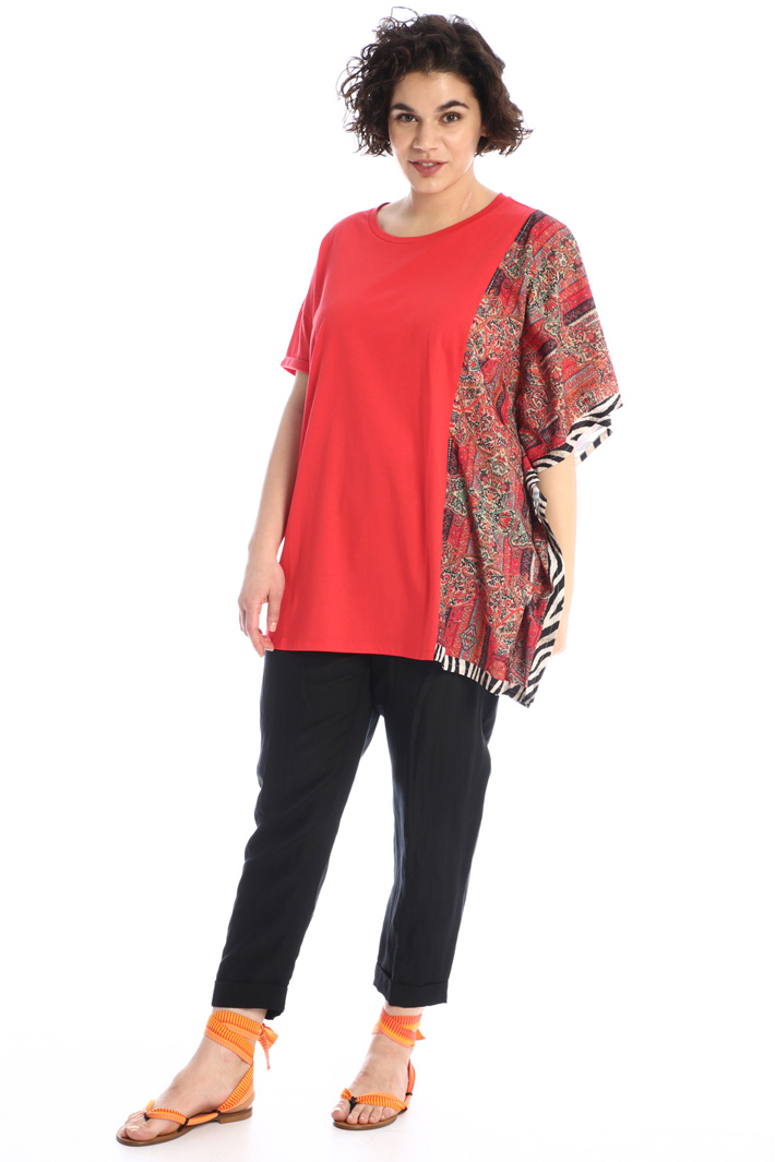 Jersey T-shirt with insert Intrend