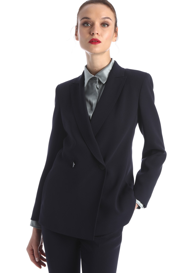 Double-breasted cady blazer Intrend