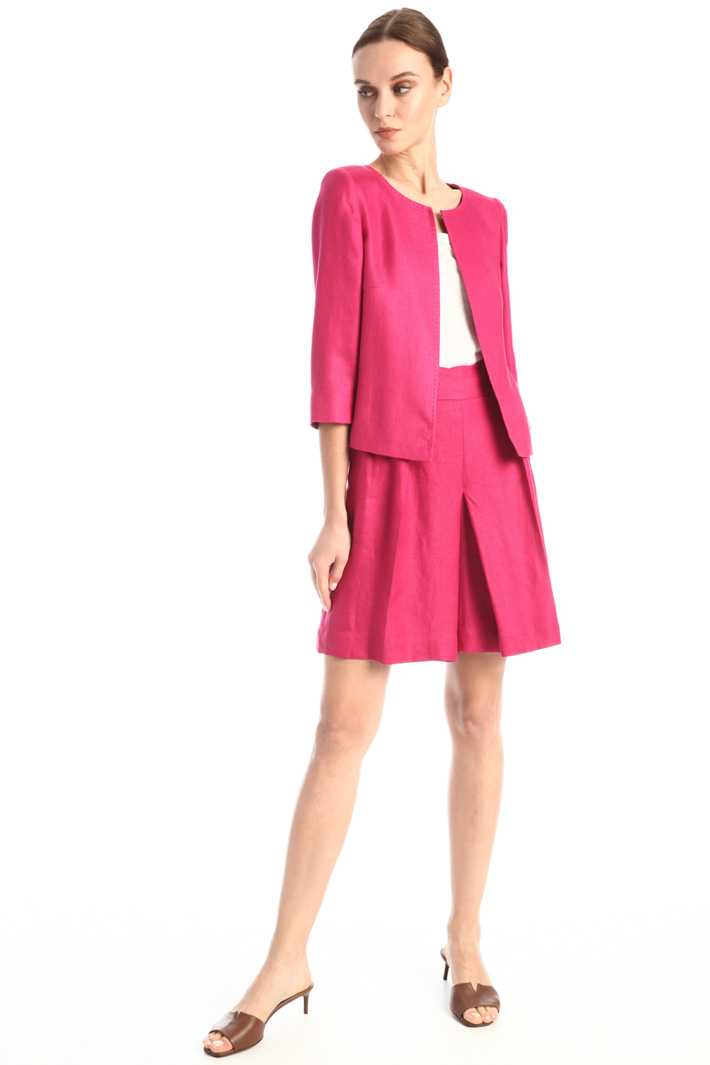 Boxy fit linen jacket Intrend