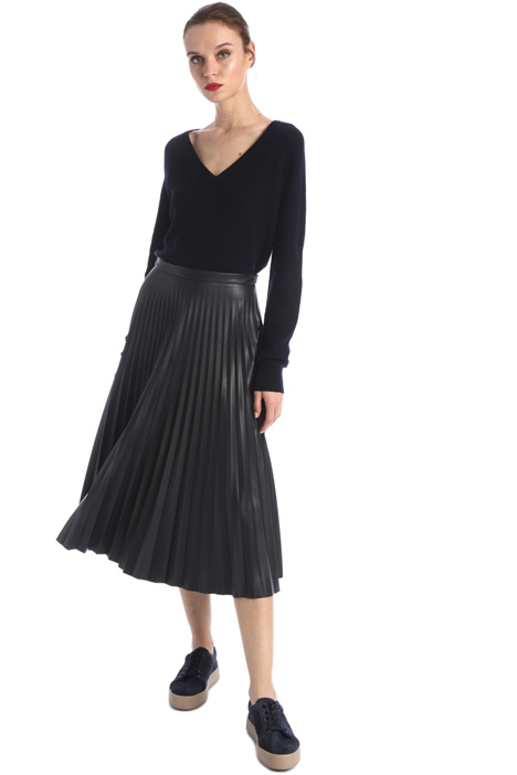Skirt in coated fabric Intrend