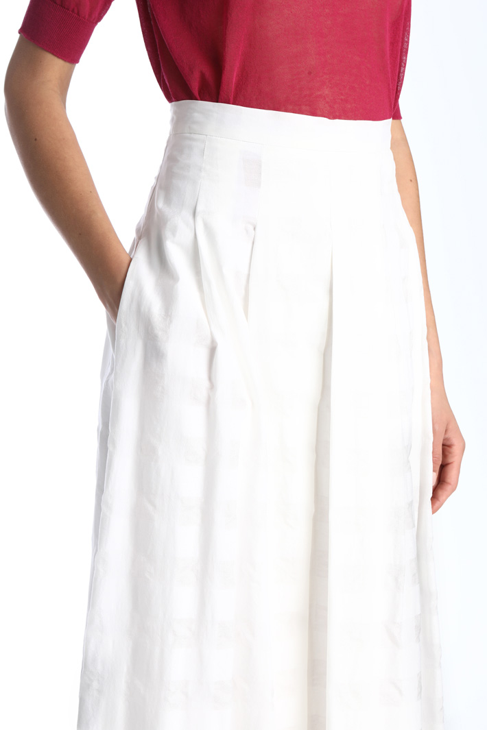 Pleated vichy skirt Intrend