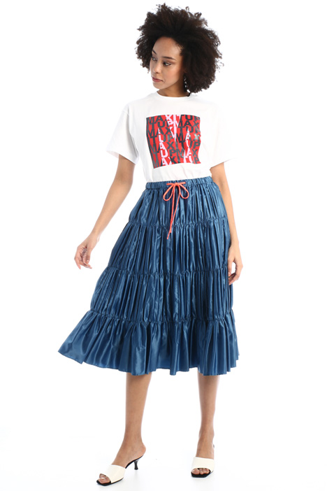 Pleated ruffle satin skirt  Intrend