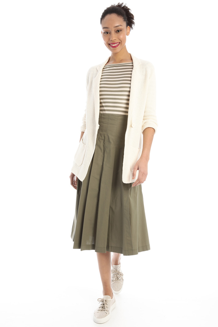 Flared cotton skirt Intrend