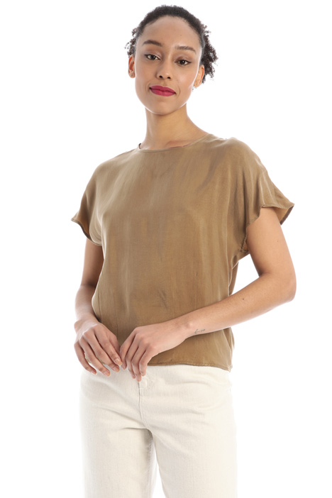 Tunic in natural fabric Intrend
