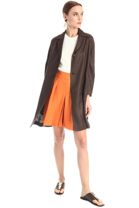 Linen twill duster coat Intrend