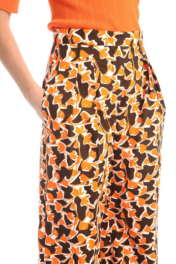 Printed poplin trousers Intrend