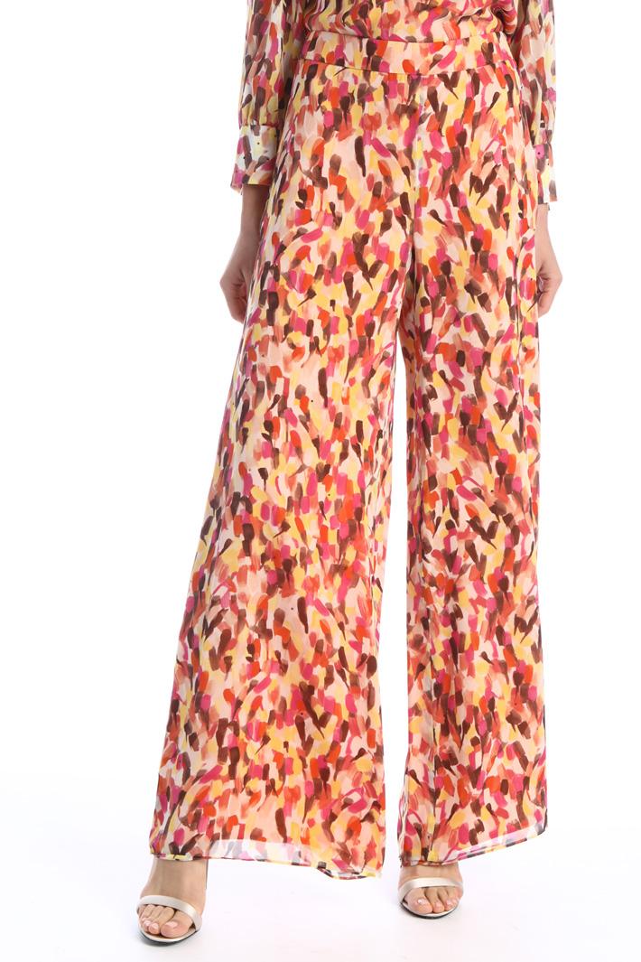 Trousers in silk georgette Intrend