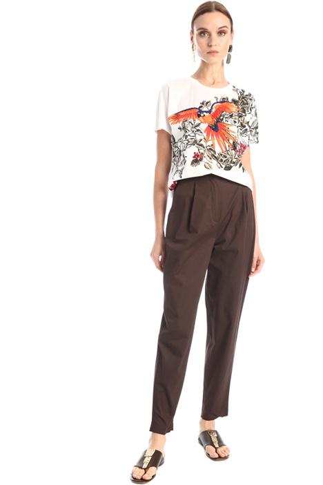 Gabardine carrot trousers Intrend