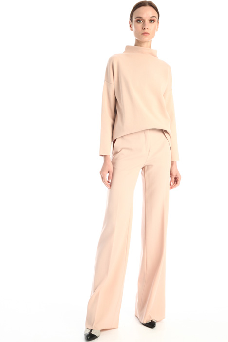 Wool crepe satin trousers Intrend