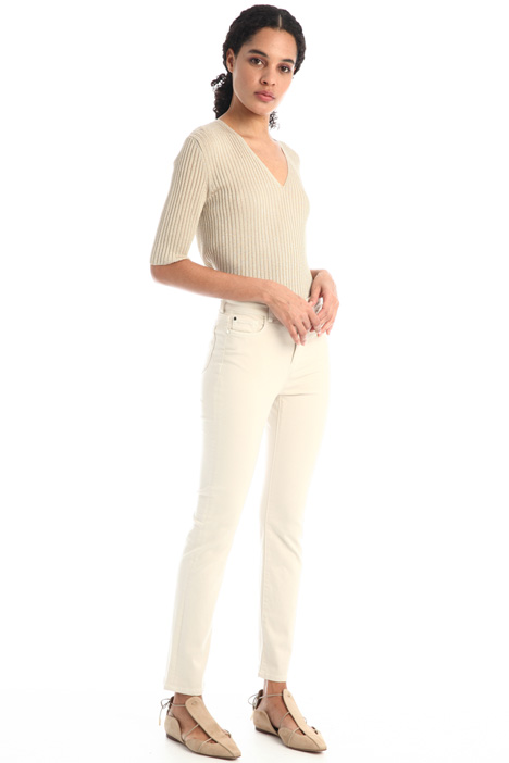 Cotton gabardine trousers Intrend