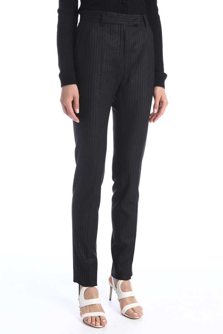 Pinstriped cigarette trousers Intrend