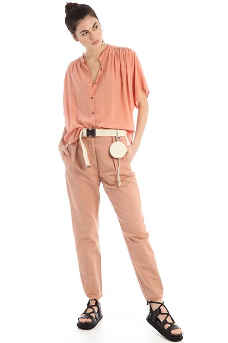Straight gabardine trousers Intrend