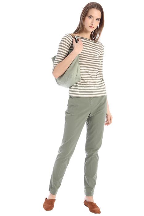 Slim fit gabardine trousers Intrend