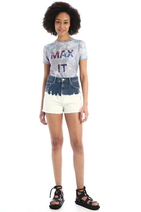 Shorts in denim tie-dye Intrend