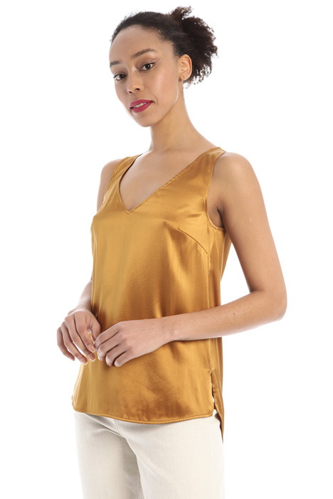 Stretch silk satin top Intrend