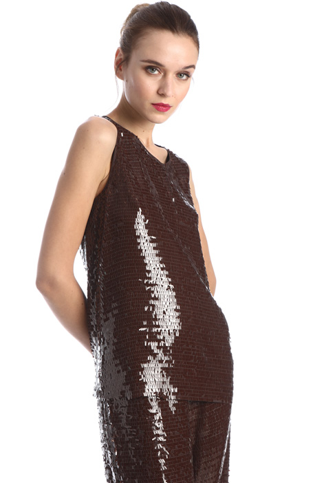 Embroidered sequin top Intrend