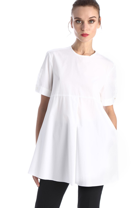Poplin tunic with slits Intrend