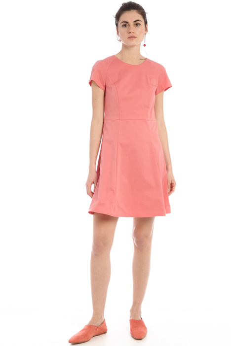 Semi-fitted cotton dress Intrend