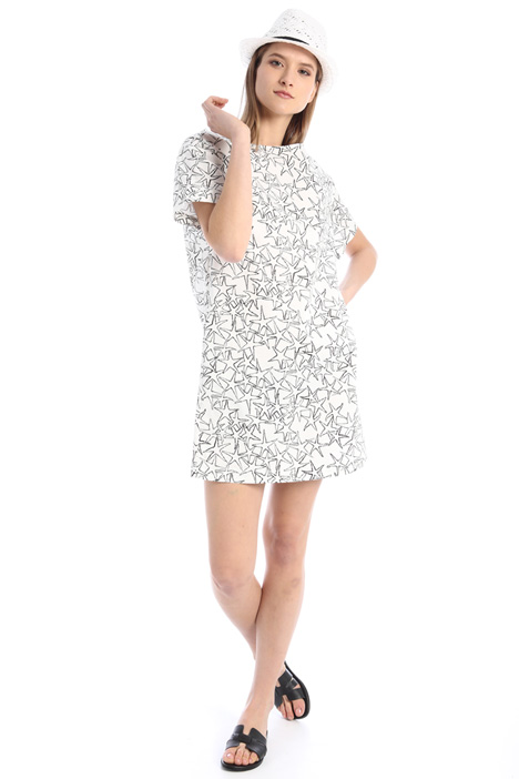 Stretch gabardine dress Intrend