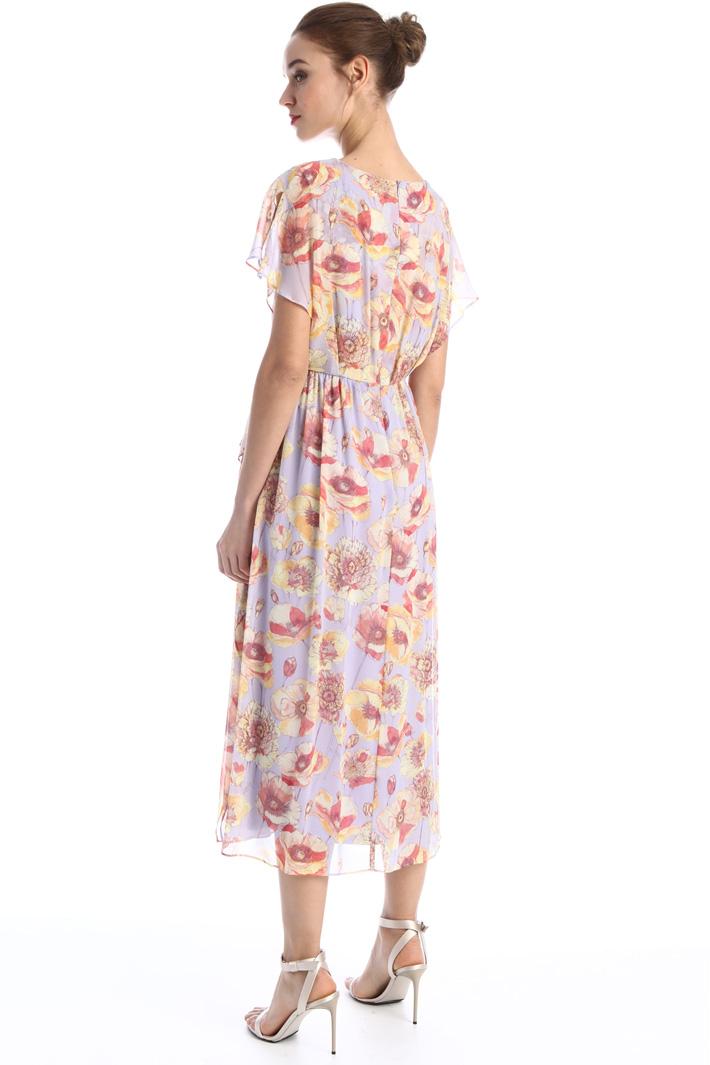 Flounced georgette dress Intrend