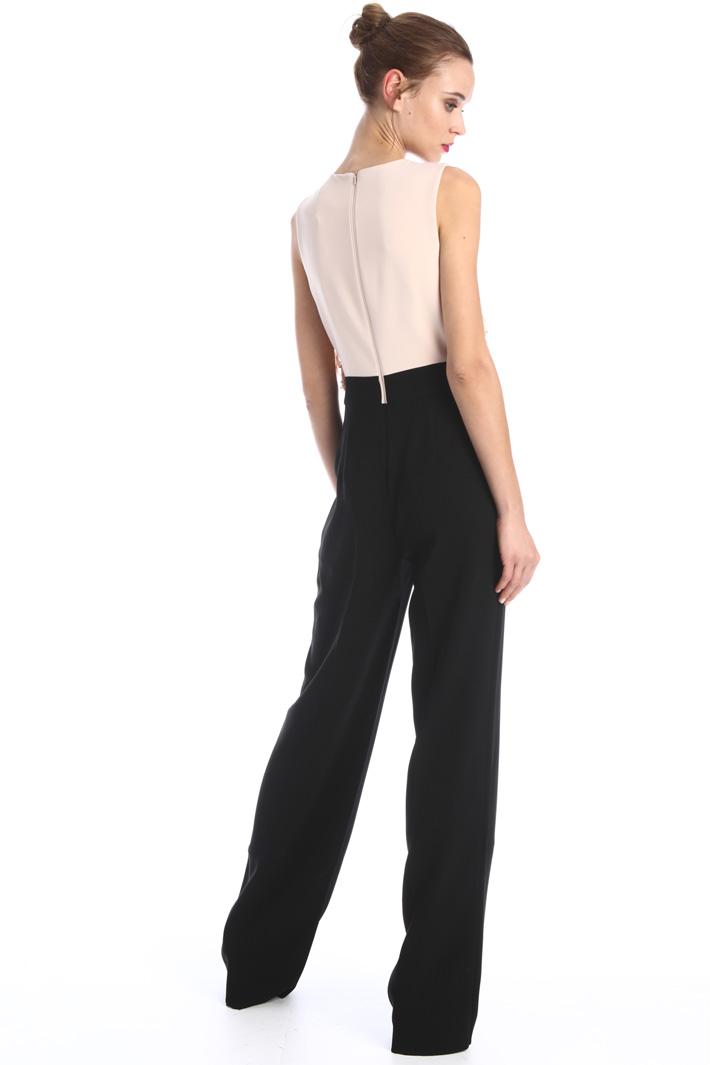 Embroidered cady jumpsuit Intrend