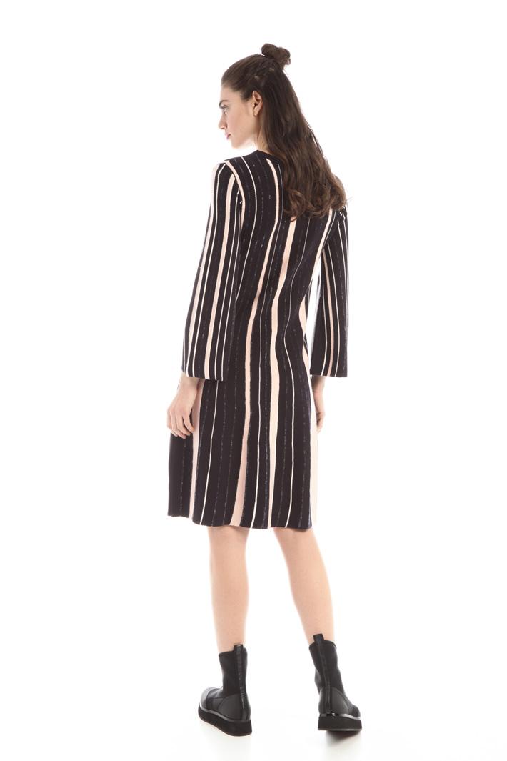 Striped knit shift dress Intrend