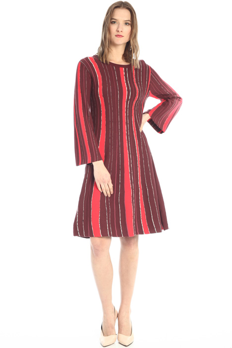 Striped knit shift dress Intrend