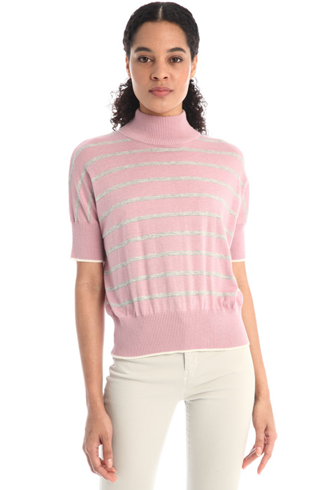 Silk and wool yarn sweater Intrend