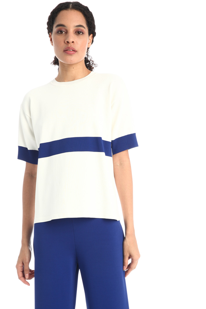Short-sleeved viscose sweater Intrend