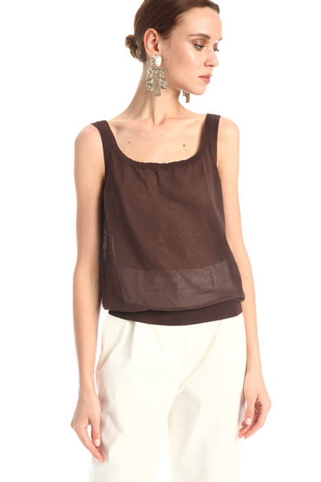 Top in organza di cotone Intrend