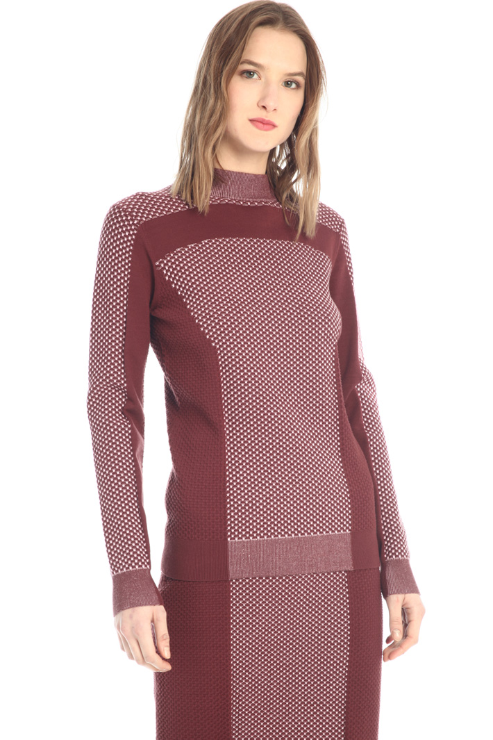 3D colour-block sweater  Intrend