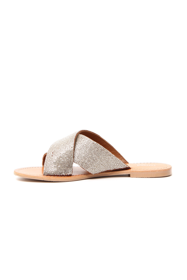 Beaded slippers Intrend