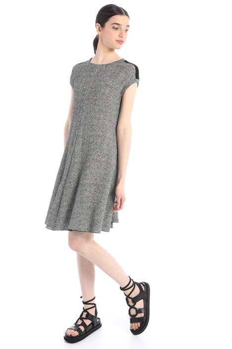 Yarn dyed jersey dress Intrend