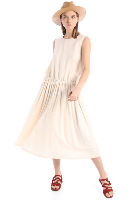 Linen jersey and canvas dress Intrend