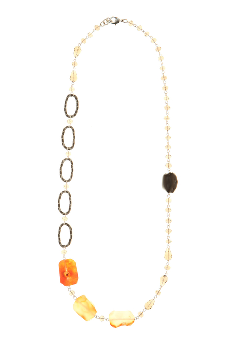 Long glass and agate necklace Intrend