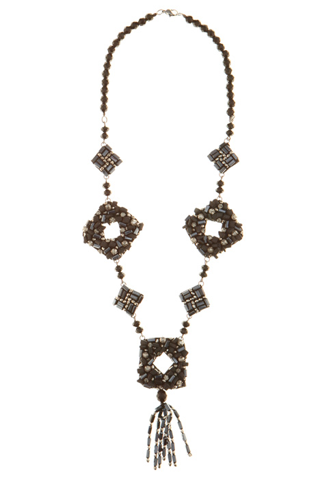 Fringed charm necklace Intrend
