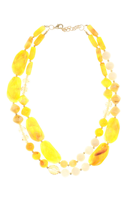 Double resin necklace Intrend