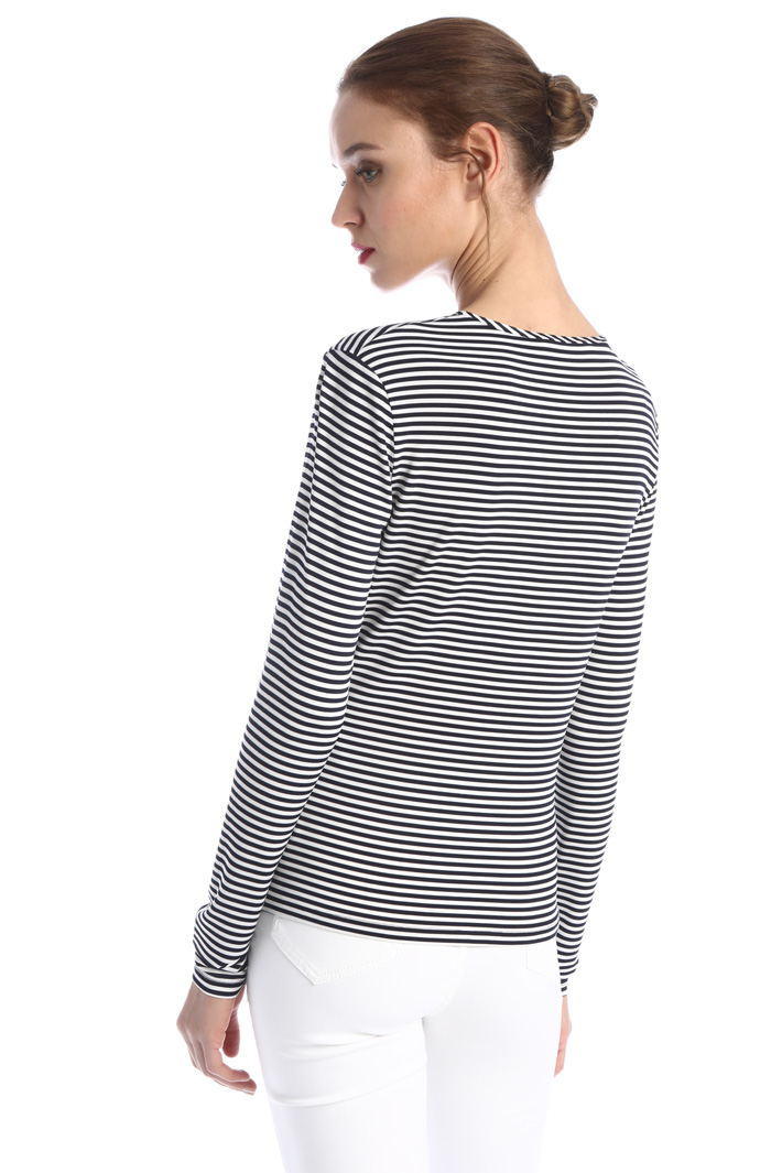 Stretch viscose jersey T-shirt Intrend