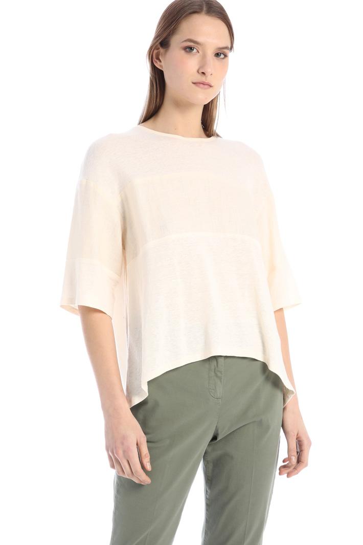 Oversized linen T-shirt Intrend