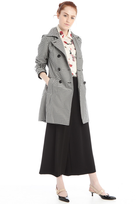 Double-breasted taffeta trench Intrend