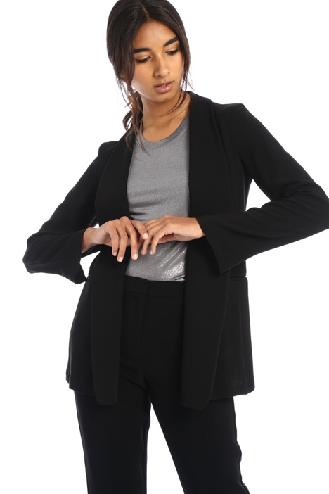 Unstructured crepe jacket Intrend