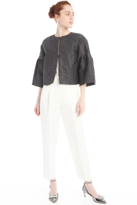 Bell sleeve jacquard jacket Intrend