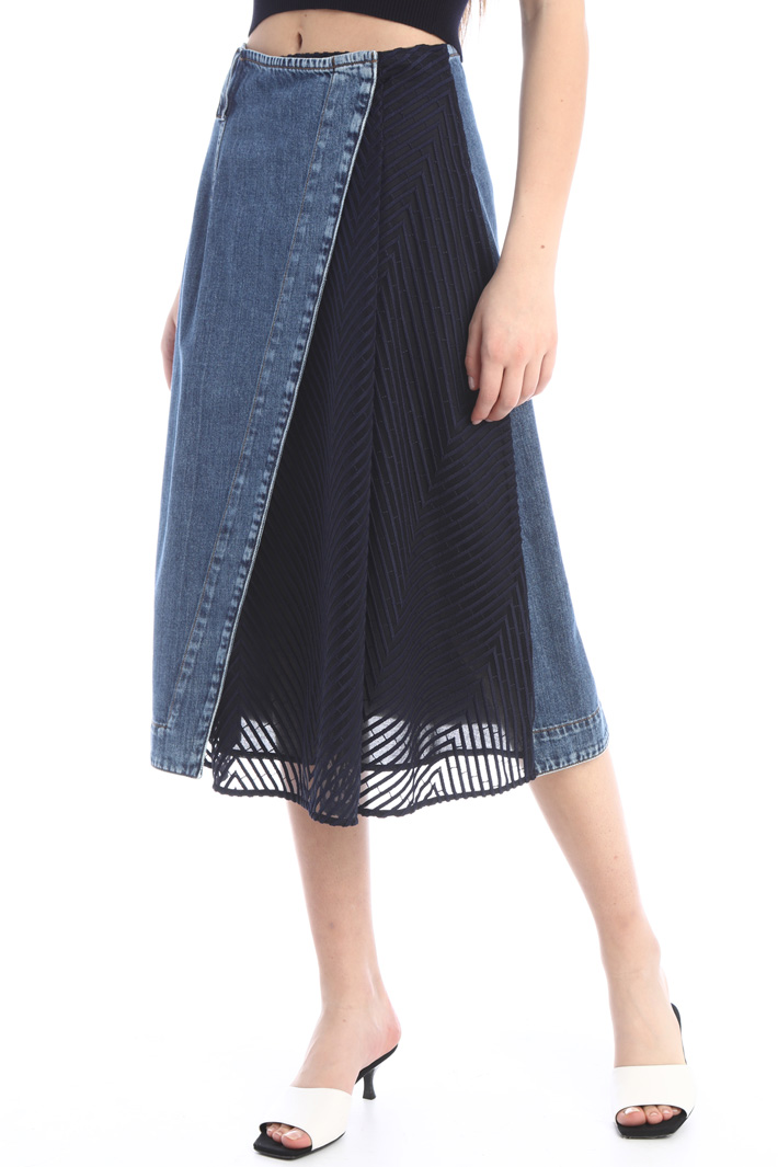 Denim wrap-up skirt Intrend