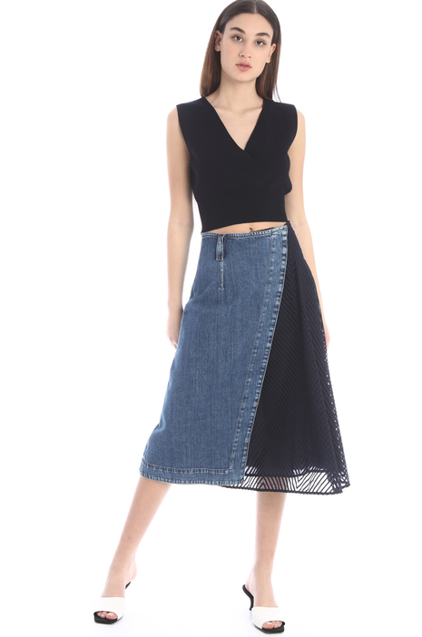 Denim wrap-up skirt Intrend