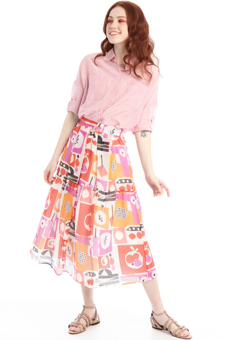 Pleated organza skirt Intrend